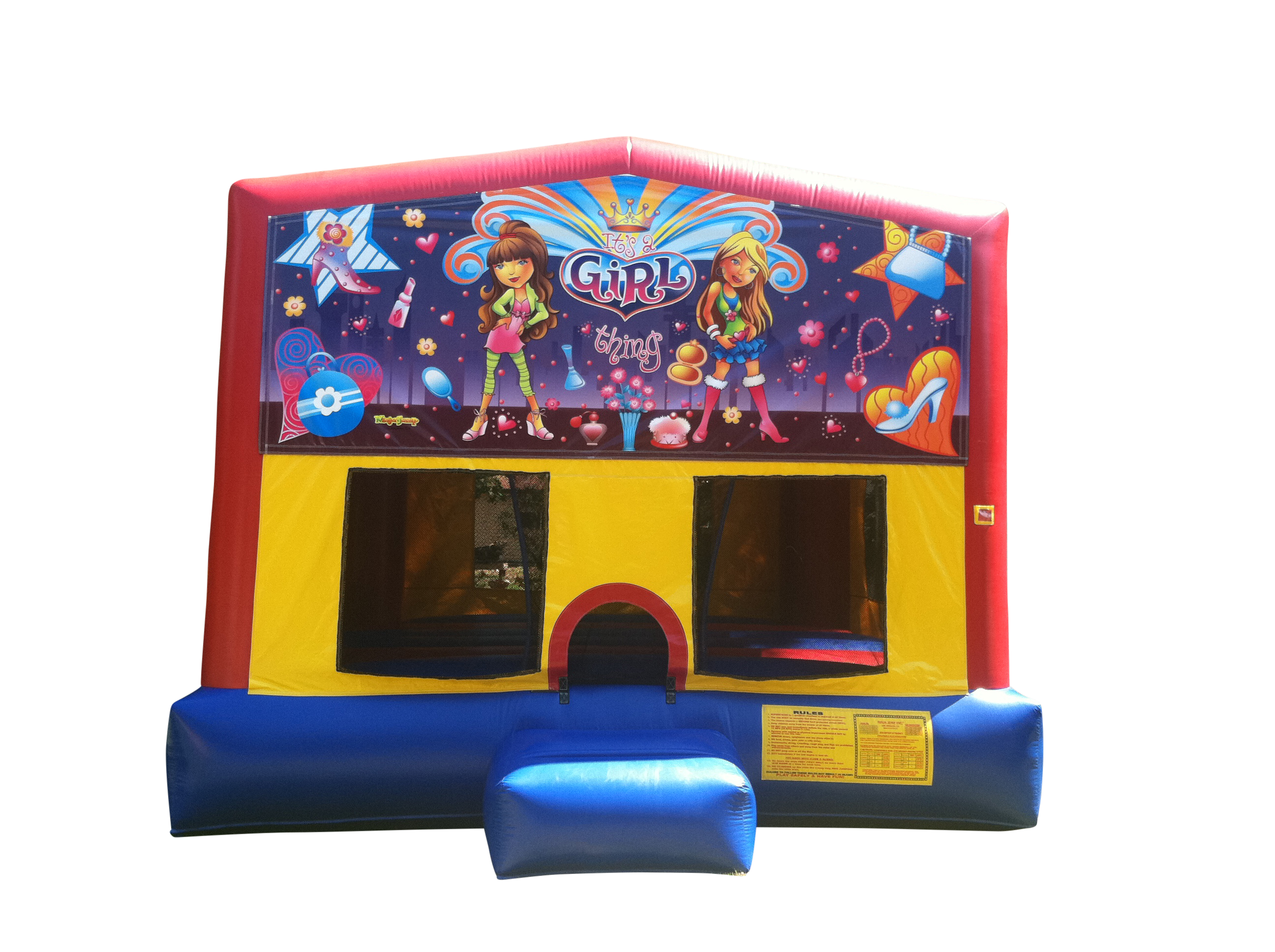 Girl Power Bounce House Rental Joliet | Plainfield IL
