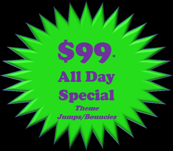 $99 bounce house rental